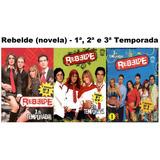 Box Novela Rebelde 1ª 2ª E 3ª Temporadas - 18 Dvds