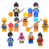 Set Dragon Ball Goku Vegeta Rosh Majimbu Compatible Con Lego