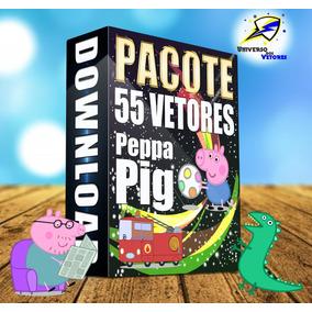 55 Modelos Vetores Peppa Pig Estampas Sublimação Gráfica