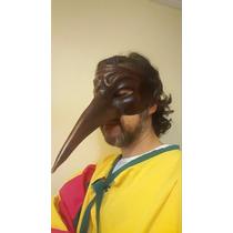 Disfraz Mascara Veneciana De Cuero Carrnaval Antifaz Barroco