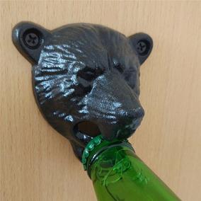 Abridor Cerveja Para Fixar Na Parede - Urso Ferro Fundido