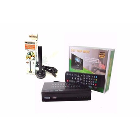 Aparelho Conversor Digital P/ Canais Abertos + Antena Hd Kit