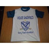 Camiseta Niño Futbol Velez Sarsfield Talles 4-16 Amplios