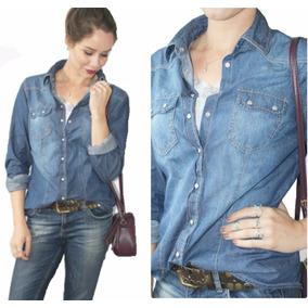 Camisa Jeans Feminina Blusas Femininas Roupas Femininas