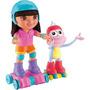 Muñeca Dora La Exploradora Y Botas. Patinan Juntos.