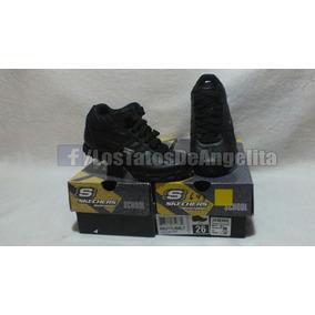 Zapatilla Skechers Con Caña Niña N° 26 Negra