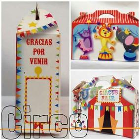 Cajitas-souvenirs Golosineras De Circo