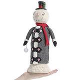 Decoración Adorable Muñeco De Nieve De Papel Arcilla Figura