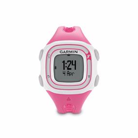 Relógio Gps Garmin Forerunner 10 Rosa E Branco Corrida Pace