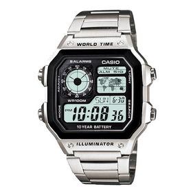 Relógio Masculino Digital Casio Multifunção Ae-1200whd-1avdf