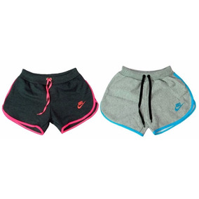 Kit 5 Shorts Moleton Nike Feminino Barato