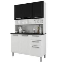 Armário Para Cozinha Regina Itatiaia I3g2-120 Branco/preto