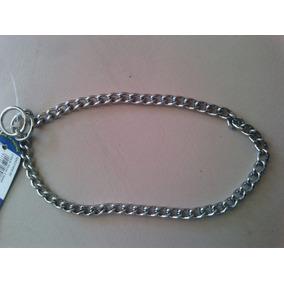 Collar Aleman 3mm Y Correa Piel 1.80m Niquel Entrenar Perro