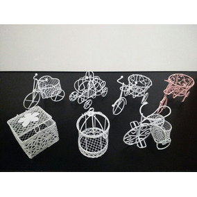 Mini Jaulitas Bicis Alhajeros X10 Souvenirs Shabby Chic