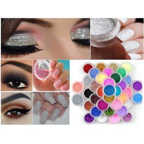 12 Un. Glitter Multiuso Makeup Nail Art Body Paint