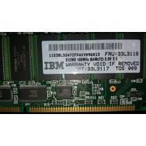 Memoria Ibm 512mb Sdram Pc100 Cl2 Ecc Dimm - Fru: 33l3118