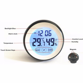 58aeda038b6 Estação Meteorológica Higrômetro Relógio Touch Promoção