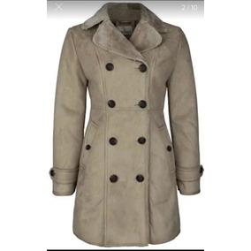 0a3a659fd4032 Abrigo Para Mujer Tipo Gamuza Acinturado