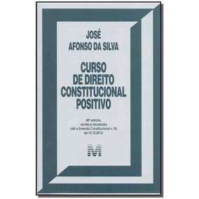 Curso De Direito Constitucional Positivo - 40ed/17