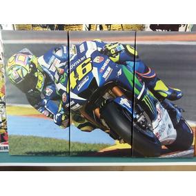 Cuadro Triptico Valentino Rossi 46 Moto Gp 60x90cm