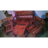 Muebles De Madera, Linea Marrón, Set De Muebles