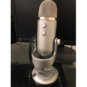 Microfone Blue Yeti Usb Prata Ou Preto Até Windows 10