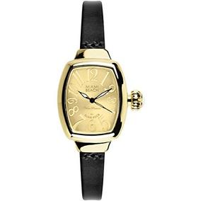 Reloj De Cuarzo De La Cuerda De Cuero Del Art Deco De La Pl