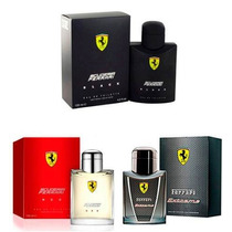 Kit 03 Perfumes Ferrari 01 Black + 01 Red + 01 Extreme 125ml
