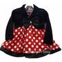 Vestido Fantasia Festa Minnie Vermelho Bolero E Faixa