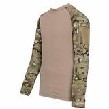 Remera Tactica Militar Combat T Shirt Verde Negro Camuflados