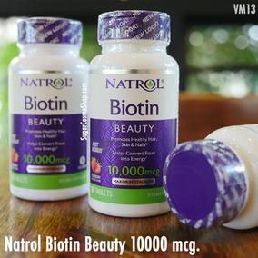 Biotin - Natrol - 100 Capsulas - Crecimiento Cabello Barba