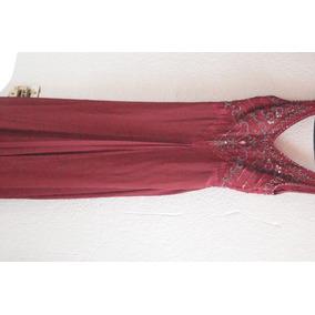 Hermoso Vestido De Noche, Color Vino
