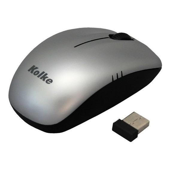 Mouse Inalambrico Kolke 2,4 Ghz Usb Receptor Nano Colores