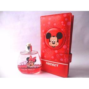 Cartera Mickey Mouse Y Perfume Minnie 100 Ml De Niñas