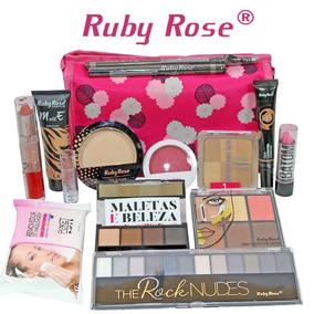 Kit Maquiagem Completa Ruby Rose +necessaire Brinde M70 .5