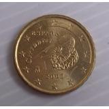 10 Cent Euro España Año 2002 Cervantes Latón U Oro Nórdico