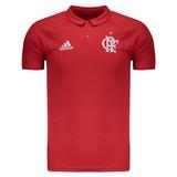 Polo adidas Flamengo Viagem 2017 Vermelha