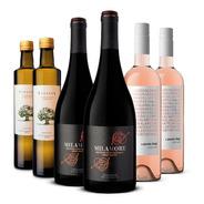 Vino Punto Final Rosado + Milamore + Aceite De Oliva 6 Bot.