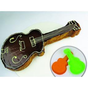 Molde De Silicon En Forma De Guitarra Brang