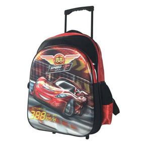 Mochila De Carrinho Speed Car 16 Vermelha - Scc700303 Sanya