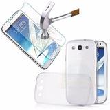 Kit Capa Tpu + Pelicula Vidro Samsung I8190 Galaxy S3 Mini