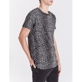 Remera Bowen Jaguar T-shirt Cuello Redondo Animal Print