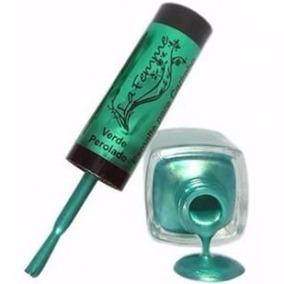 Esmalte Verde Perolado Para Carimbo 9ml - La Femme