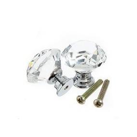 Puxador De Cristal Para Gavetas E Móveis Com Parafuso