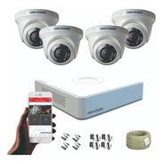 Cámaras De Seguridad Kit Cctv Hikvision Mini Dvr 4ch + 4 Cám