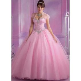 Vestido 15 Años Talle L Importado Rosa