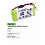 Bateria Para Telefone Sem Fio 2.4v 600mah Aaa Fx-70u Ts40