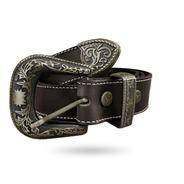 Cinto Cowboy Country Liso 100% Couro Ouro Velho