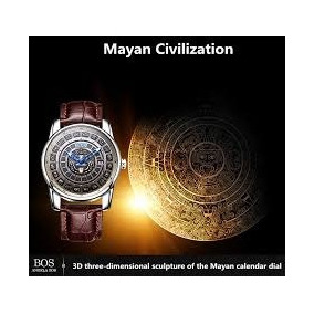 Reloj Automatico Angela Bos Calendario Maya Conmemorativo