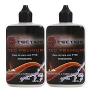 2un Lubrificante Cera Corrente Tectire Premium Ptfe 90ml Kit